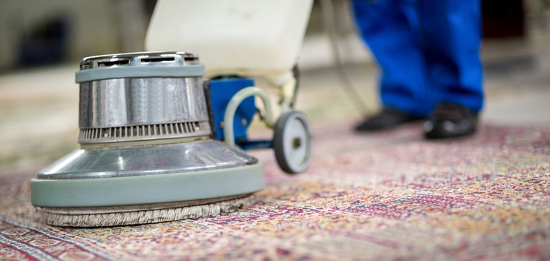 Vacuuming an Oriental Rug